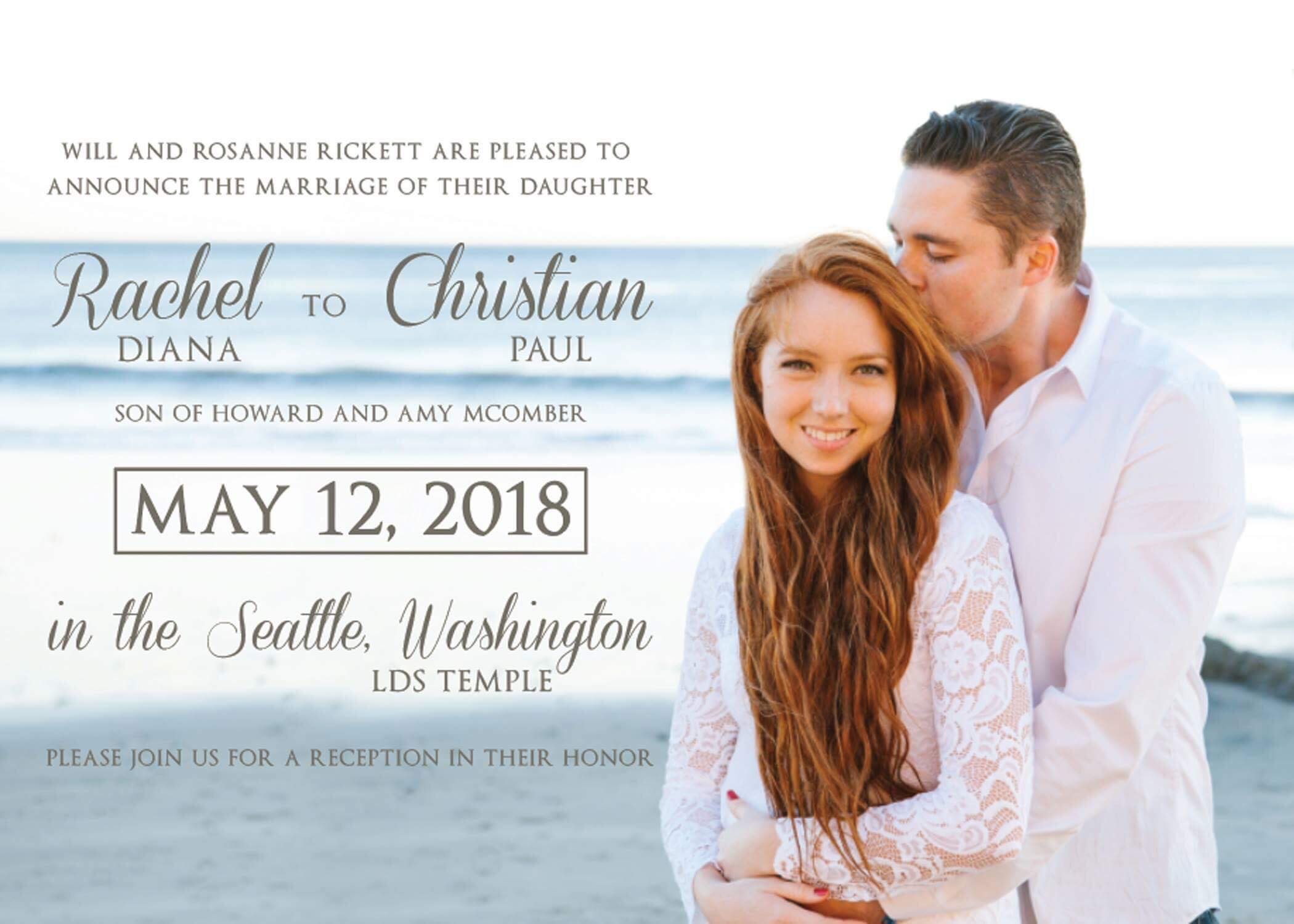 wedding announcements sarah wakefield photodesign